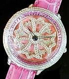 Anne Coquine(アン コキーヌ) 1201-0505 CROSS GOLD SWAROVSKI WATCH ピンク×ピンク(並行輸入品) [並行輸入品]
