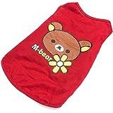 ANSON(エンソン) 猫 犬ペット用品 ペットシャツ チョッキ 犬ペット服 可愛いパターン付き (XL, ベア)