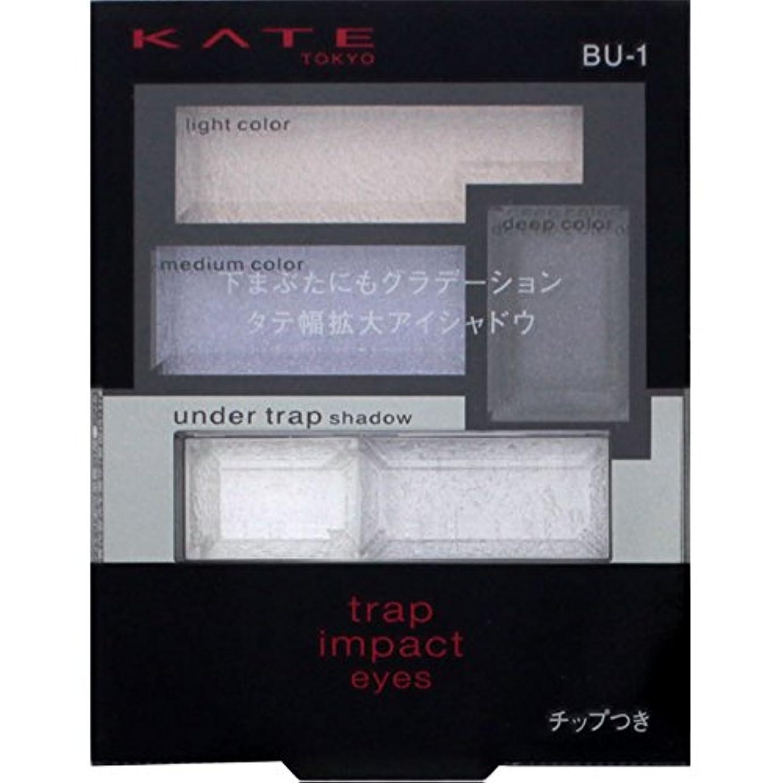 測定可能住人助言するカネボウ ケイト トラップインパクトアイズ BU-1