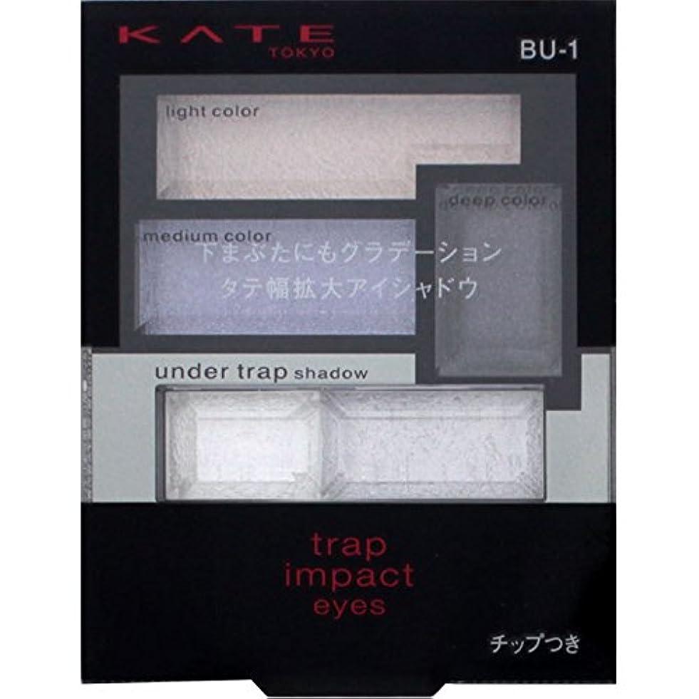 最終パテいらいらするカネボウ ケイト トラップインパクトアイズ BU-1