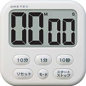 DRETEC 大画面タイマー 【シャボン6 】 ホワイト T-542 WT