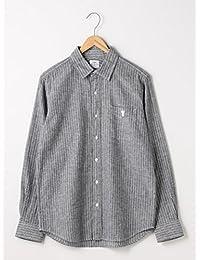 (コーエン) COEN 綿麻ストライプレギュラーカラーシャツ 75106028014