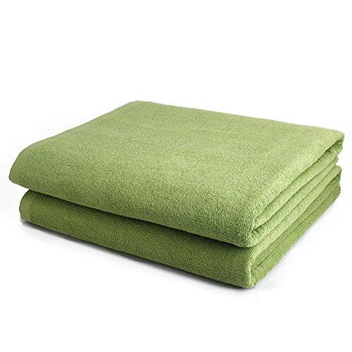 タオルの森 業務用 超大判バスタオル 180cm 12枚セット(グリーン)