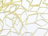 フレームパーツ ゴールド ダイヤ ひし形 3サイズmix【0.9cm 1.6cm 2.3cm】各サイズ4個ずつ計12個 レジンクラフト 型 枠 チャーム ...