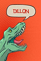 """Dillon: Personalized Dino Blood Sugar Diet Diary journal log 120 pages 6""""x9"""""""