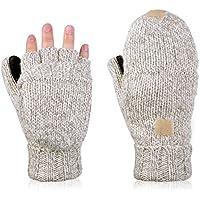 VBIGER ミトン手袋 2way手袋 メンズ レディース スマートフォン対応 指なし 冬用グローブ