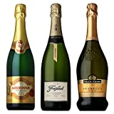 ドイツ・スペイン・イタリアの辛口スパークリングワイン飲み比べ3本セット [イタリア/スパークリングワイン/辛口/ミディアムボディ/3本]