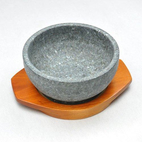 【本場韓国長水石】石焼きビビンバ鍋18cm木台付セット
