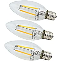 エジソン電球 E17 LED シャンデリアランプ 20W形相当 電球色 フィラメントライト 雰囲気 レトロ電球 3個セット 電球色