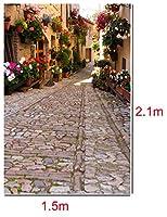 写真撮影用背景幕 背景幕 背景幕 3~5日でお届け 5x7フィート ホワイト&ピンクのバラの花 木製 写真家 写真スタジオ小道具用 5x7FT/1.5x2.1M D0180-USA-X100