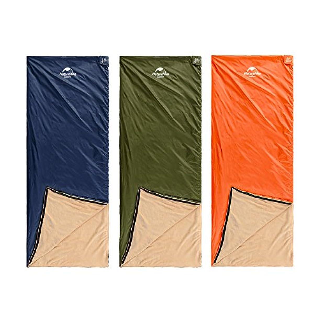 シード増強考案するNatureHike 寝袋 シュラフ 封筒型 コンパクト 珊瑚ベルベットキルト 丸洗い 軽量 アウトドア 登山 車中泊 防災 緊急用に 最低使用温度8度 収納袋付き 3カラー