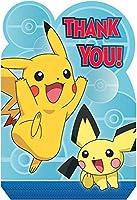 Amscan Pokemon Core Thank Youカード( 8)