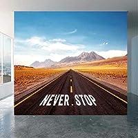 Lcymt 道路風景壁紙壁紙壁画3Dプリント写真壁壁画デカール壁画-400X280Cm