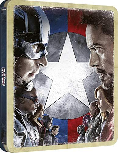 シビル・ウォー/キャプテン・アメリカ 4K Ultra HD+ブルーレイ 数量限定スチールブック仕様 [リージョンフリー 日本語収録(4Kのみ)](輸入版)