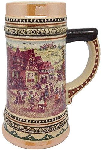 セラミックビールジョッキとドイツ村ダンサー2liter