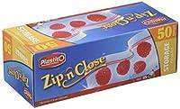 Plastico Zip 'N Close Resealable Plastic Storage Quart Bags 50 Count [並行輸入品]
