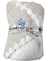 Kashwere カシウェア ベビーブランケット センターストライプ&キャップ BABY BLANKET CENTER STRIPE & CAP モルト/クリーム BB-69C-195-30 [並行輸入品]
