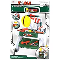 Jr. Handy Man Deluxe Pretend Play Work Shop Workbench Children's Toy Tool Set, Perfect for your Little Builder by Velocity Toys [並行輸入品]