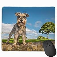 マウスパッド 犬 緑 グレー ゲーミング オフィス最適 おしゃれ 疲労低減 滑り止めゴム底 耐久性が良い 防水 かわいい PC MacBook Pro/DELL/HP/SAMSUNGなどに 光学式対応 高級感プレゼント plesamncgb