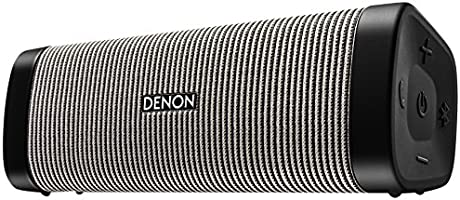 DENON ポータブルワイヤレススピーカー Envaya Bluetooth®対応 IPX7 防水/IP6X 防塵 aptX対応 ブラック/グレー DSB-250BT-BG