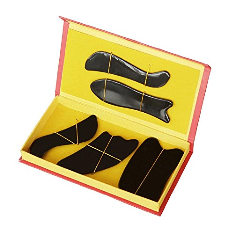 能力熟す生まれEQLEF 牛角カッサ·セット、カッサボード、カッサマッサージ道具  滑らかな牛角かっさプレート