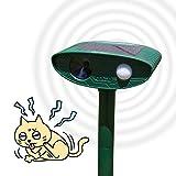 Redeo 動物撃退 猫よけセンサー 超音波 害獣対策 ソーラー式 動物被害を軽減 防水 簡単設置 猫、犬、ネズミ、キツネ、ハト、カラス、コウモリ、げっ歯類など対応