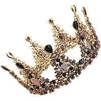 Tiara Black Crown Headdress Birthday Round Wedding Dress Accessories