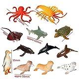 Bunita、12pcs /設定プラスチック海洋動物モデルToy Figure Ocean Creatures Dolphin Kids Toy Bestモデルギフトfor Children Kids、人形Houseアクセサリーセット