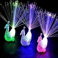プラスチックピーコックテール子供 LED リング変色繊維光噴水ハロウィンクリスマスパーティーの装飾 12cmx4 。 72in