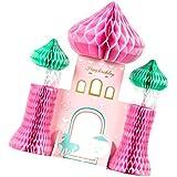 Kesoto ハニカム装飾 魔法の城 ユニコーン ハニカム ボール テーブル 装飾ピース 誕生日 パーティー 飾り付け