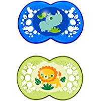 MAM Crystal Orthodontic Pacifier, Boy, 6+ Months, 2-Count by MAM