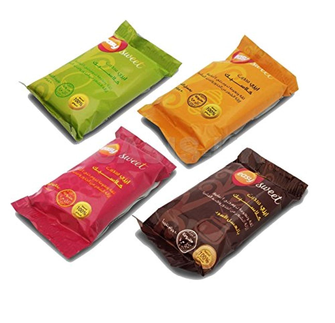 勝つ発生するタブレット4 X 50 gm Sweet Packets Sugaring Sugar Wax Hair Removal 100% Natural All Essence