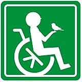 imoninn 障害者マーク 【マグネットタイプ】 車いすサイン・福祉車両用 (緑色)