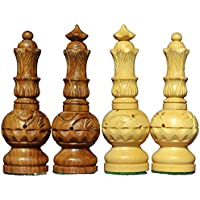 Chess Set Craftmagic 32 Wooden Chess Pieces 2 Queens Extra