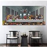 海外限定 NBA オールスター 「最後の晩餐」 マイケル ジョーダン キャンバス ポスター air jordan エア ジョーダン nike シャック レブロン ジェームス バスケットボール (60x160 cm)