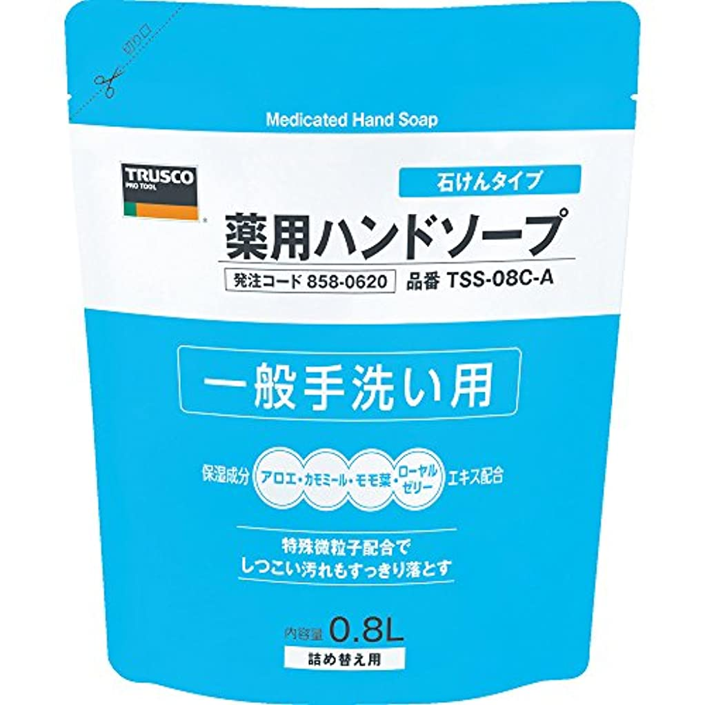 多分小麦粉ストロークTRUSCO(トラスコ) 薬用ハンドソープ 石けんタイプ 袋入詰替 0.8L TSS-08C-A