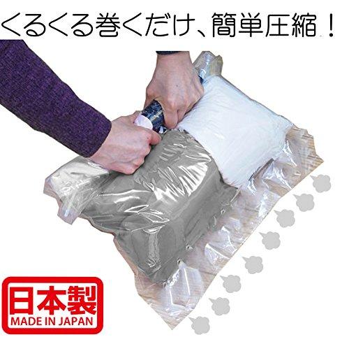 【Amazon.co.jp限定】 掃除機不要!  衣類圧縮袋 M・L 各5枚 10枚組 日本製 旅行 旅行用