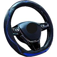 ZATOOTOハンドルカバー d型 ステアリングカバー おしゃれ 滑り防止 握りやすい 耐久性に優れ LY123-L