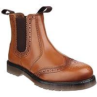 [Amblers] (アンブラーズ) メンズ Dalby プルオン ブローグ ブーツ 紳士靴 カジュアルブーツ 男性用 (9 UK) (タン)