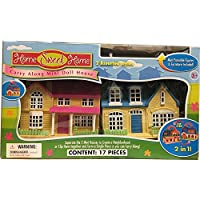 Carry Along Mini Doll House - 17 Pieces Play Set for Kids