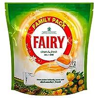 Fairy Clean & Fresh Dishwasher Tablets Citrus Grove (72 per pack) 妖精清潔で新鮮食器洗い機錠の柑橘類の木立(パックあたり72 )