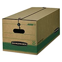 Bankers Box 00773Stor /ファイルExtra Strengthストレージボックス、手紙、文字列/ボタン、クラフト/グリーン(ケースof 12)
