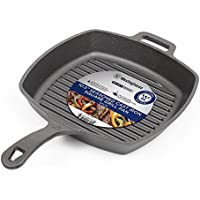 Westinghouse WFL75 Select Series Seasoned Cast Iron 10 1/2-Inch Square Grill Pan [並行輸入品]
