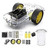 The perseids 2WDロボットスマートカーシャーシ 2輪ロボットスマートカー スピードエンコーダ DIY プログラミングカー教材ロボット(2輪)