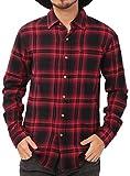 JIGGYS SHOP (ジギーズショップ) チェックシャツ メンズ 長袖 腰巻 サーフ系 ネルシャツ 大きいサイズ XXL オンブレーワイン