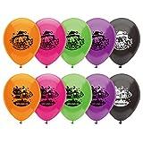 【ハロウィンバルーン】9インチ レギュラーゴム風船 ハロウィン(25入・色柄アソート)/ お楽しみグッズ(紙風船)付きセット [おもちゃ&ホビー]