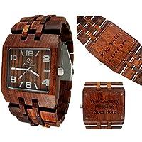 Gassen James木製腕時計 メンズスタイル オメガI ローズウッド