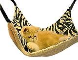 ForNeat キャットハンモック チェア 居心地よい小さいペット動物ハンギングハンモック心地ベッド眠るパッド (L, ゼブラストライプ)