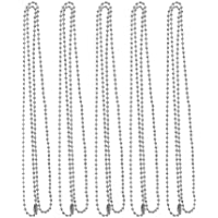 Baoblaze 5pcs Stainless Steel 2mm Ball Chain Necklace Bead Chain for Necklace Crafts