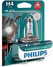 Philips X-treme Vision Moto H4 12V globe - single blister pack